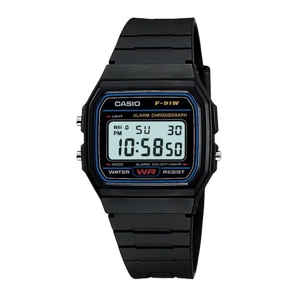 180d82d49652 HOMBRE RESISTENTE AL AGUA GOMA Reloj Hombre Digital CASIO F91W
